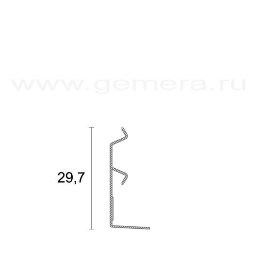 Алюминиевый плинтус Profilpas 97/4
