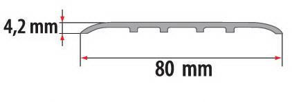 Порог алюминиевый для пола Fezard AL-С80
