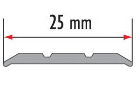 Порог алюминиевый для пола Fezard AL-СR25