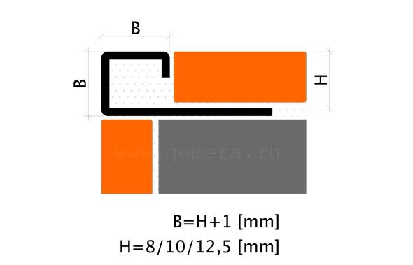 Угловая раскладка для кафельной плитки Fezard ST-PJ10